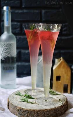 vodka belvedere, framboises , fraicheur