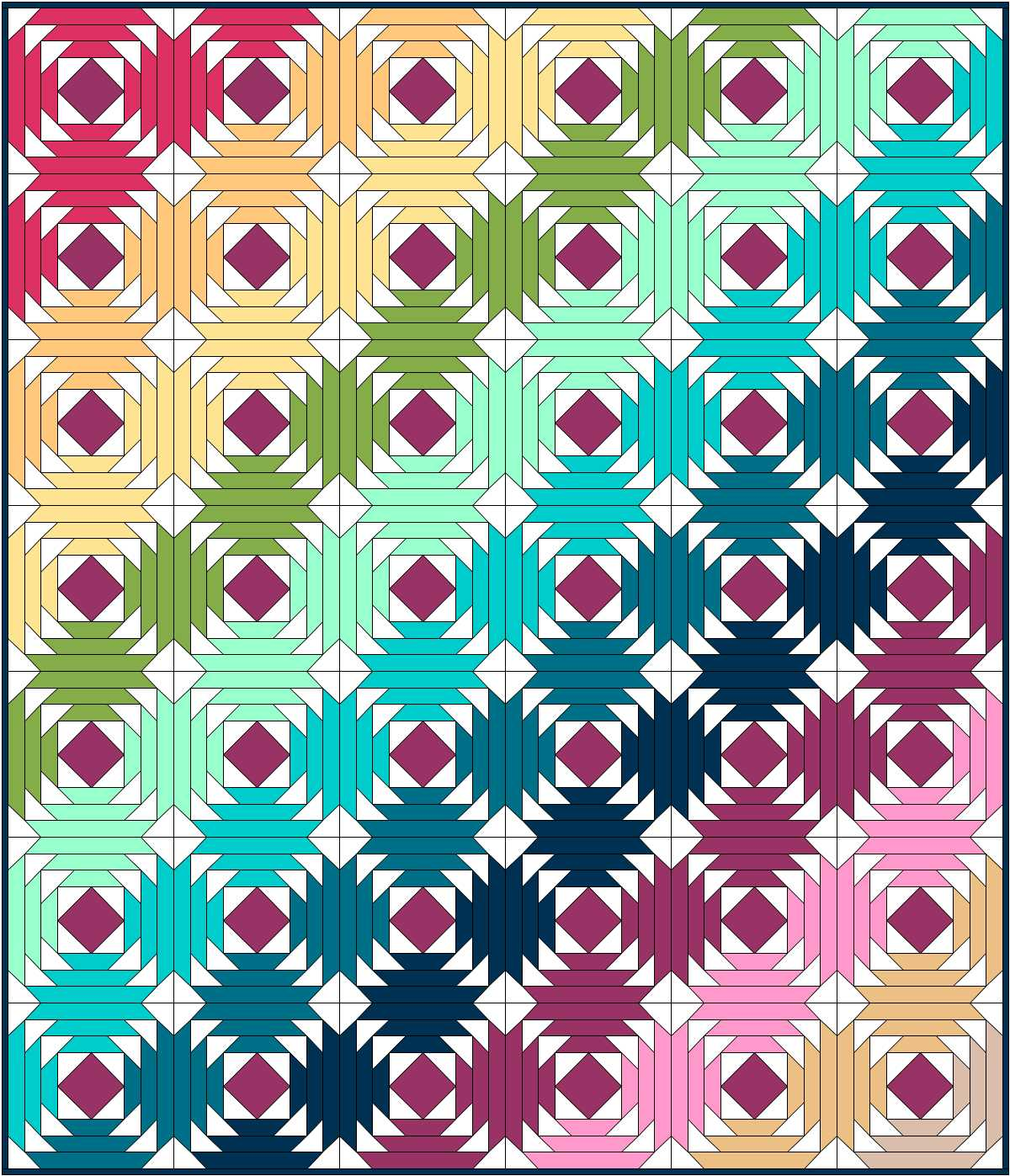 Hyacinth Quilt Designs Pineapple Quilt Block Tutorial