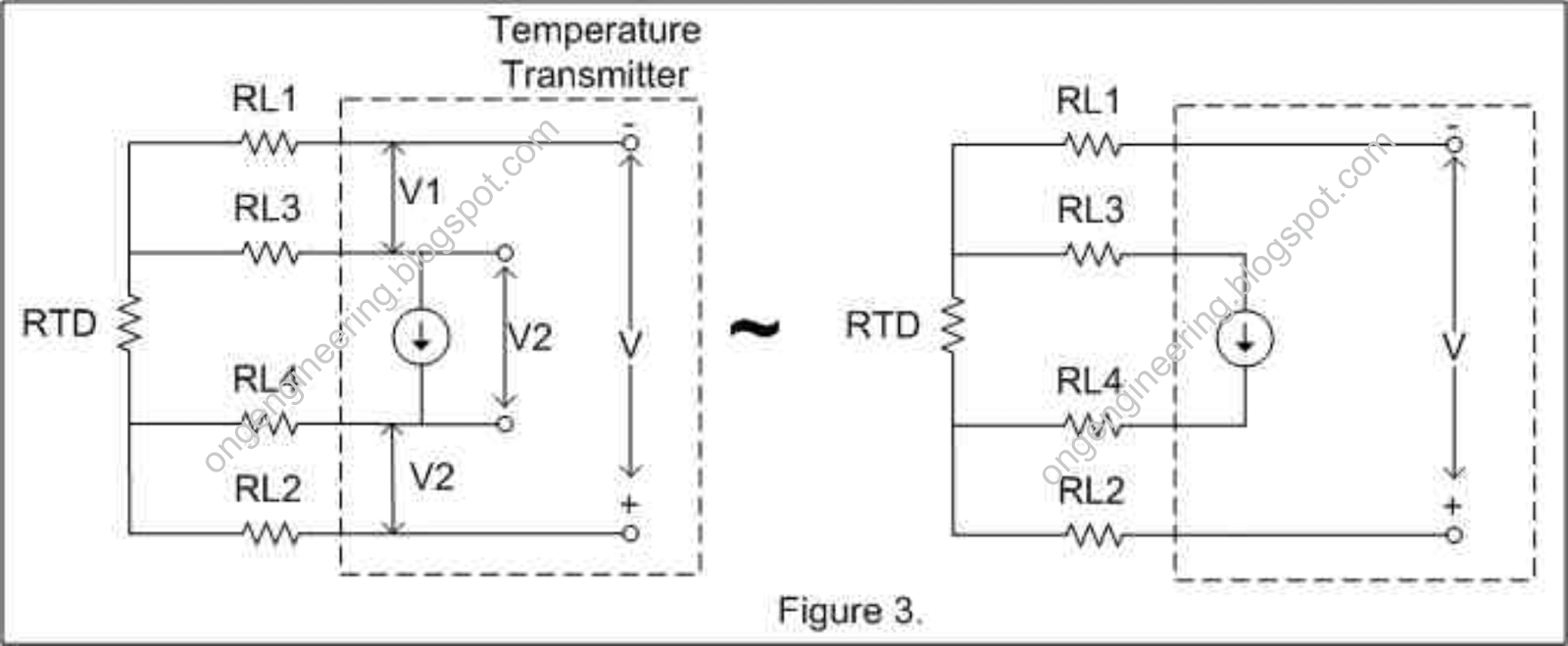 for best compensation of wire resistance used by rtd 4 wires are the best choices it subtracts all the wire resistance from the voltage drop equation see  [ 1600 x 659 Pixel ]