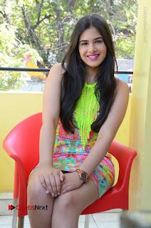 Telugu Actress Prasanna Stills in Short Dress at Inkenti Nuvve Cheppu Press Meet Stills  0139.JPG