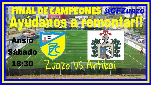 Fútbol | El Zuazo llama a sus aficionados a apoyar la remontada en la final de campeones