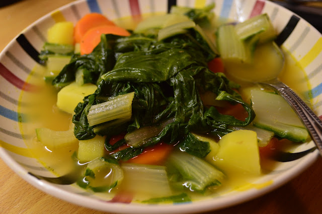 vernal chard soup vegan