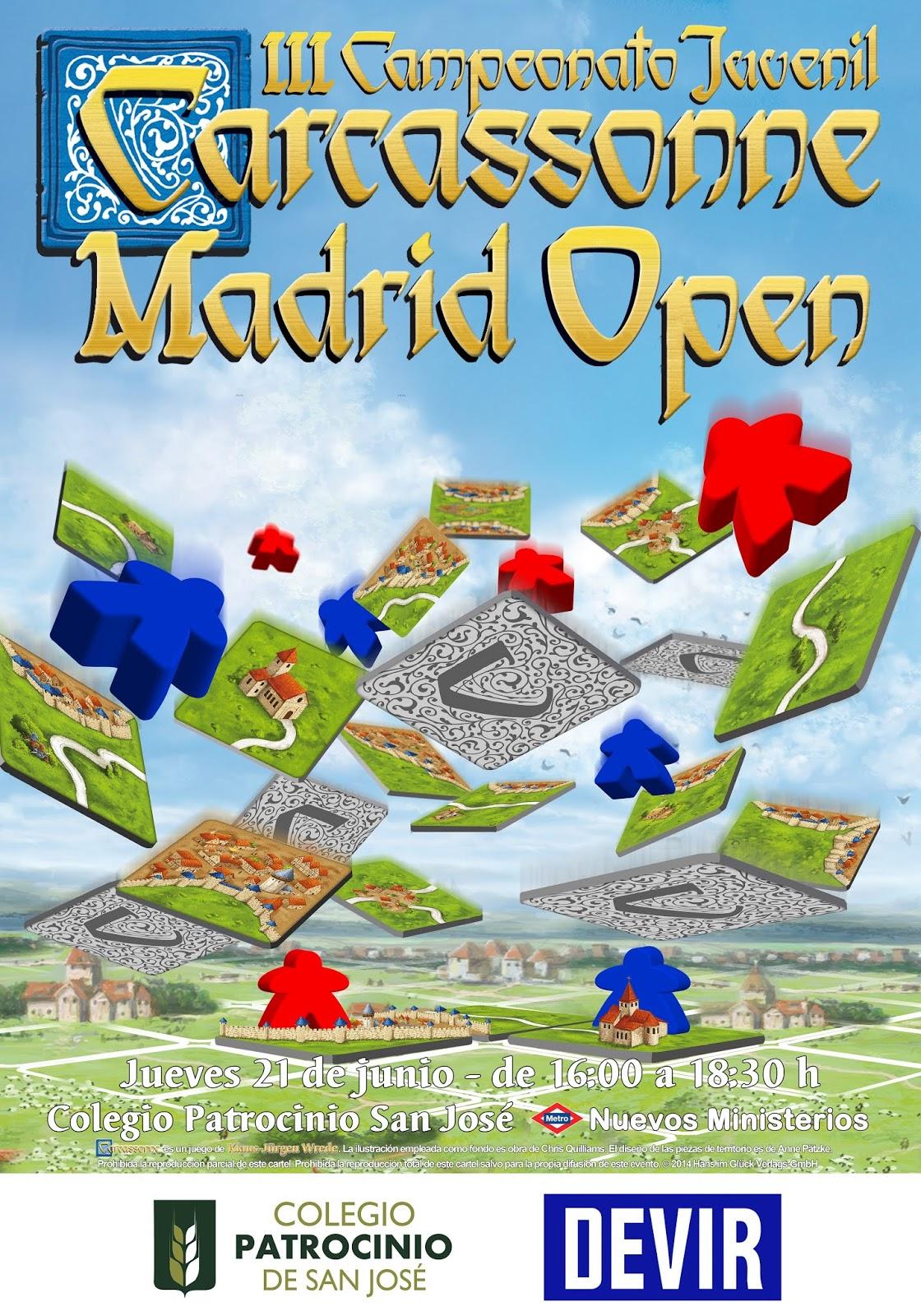 Juegos De Mesa Psj Iii Campeonato Juvenil De Carcassonne Madrid Open