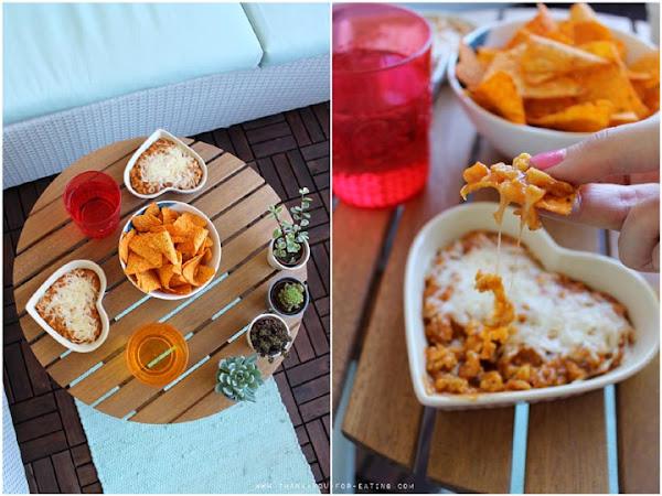 [Werbung] Vegetarischer Chili-Cheese-Dip