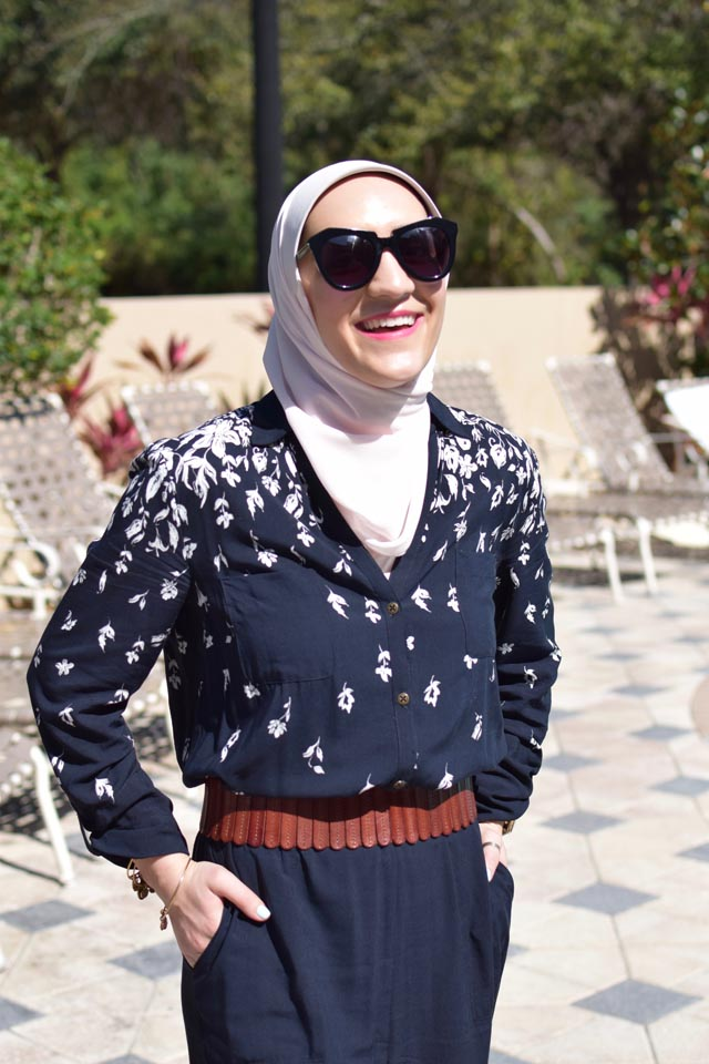 A Day In The Lalz; Anthropologie Lakeshore Jumpsuit; Spring Jumpsuit; Hijabi; Modest Fashion; Fashion Blogger; Travel Style; Poolside Fahion; Vacation Style; Anthro