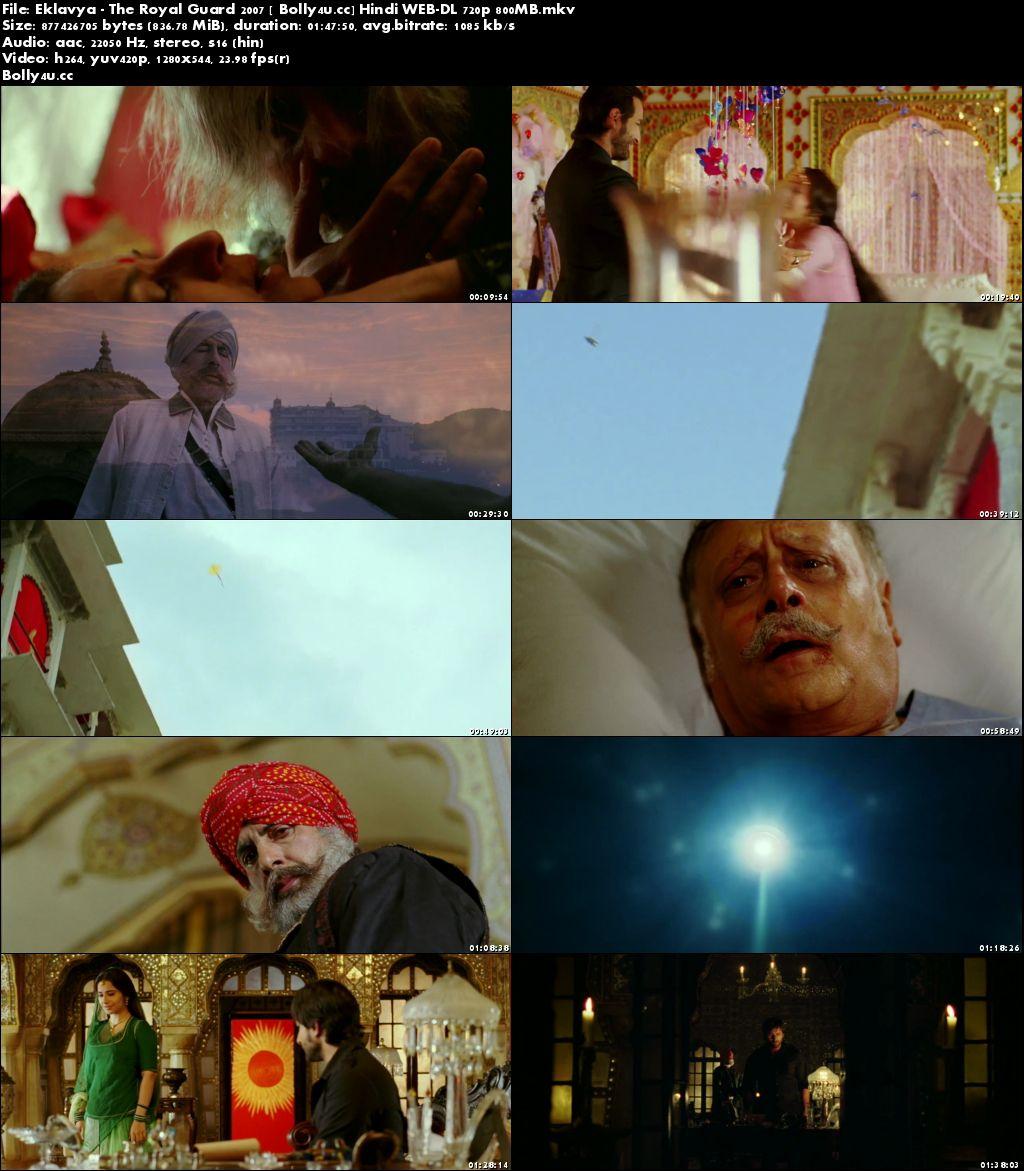 Eklavya The Royal Guard 2007 WEB-DL 800MB Hindi 720p Download