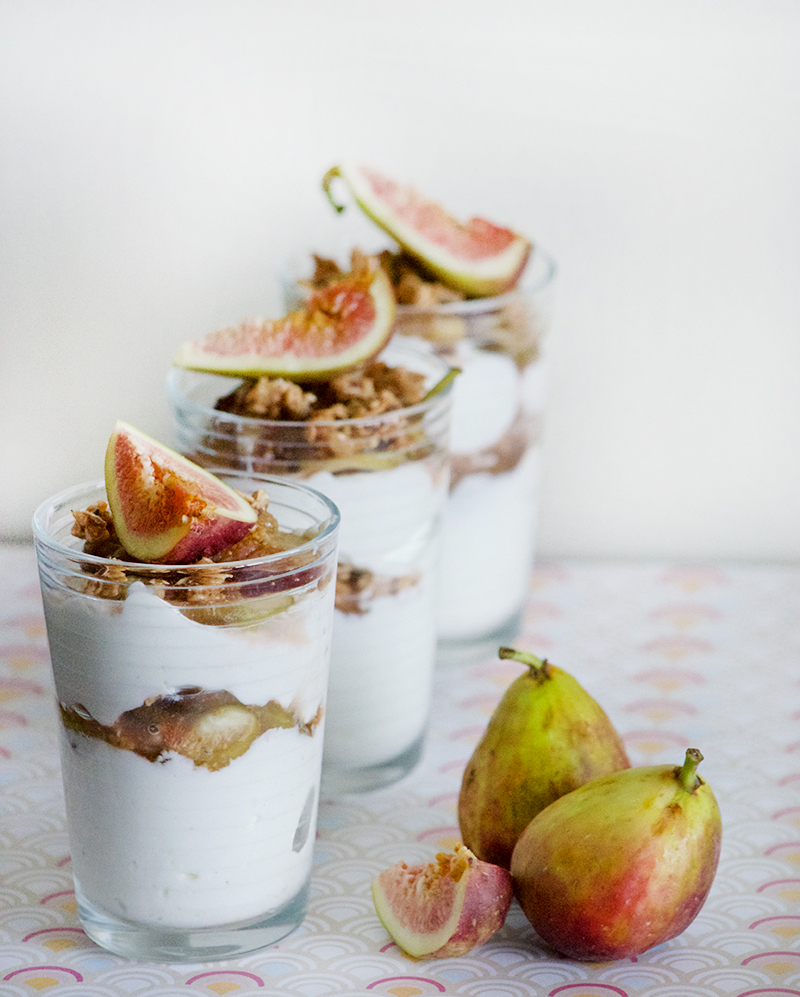 Maple Poached Figs and Granola Parfait | Obsessive Cooking Disorder