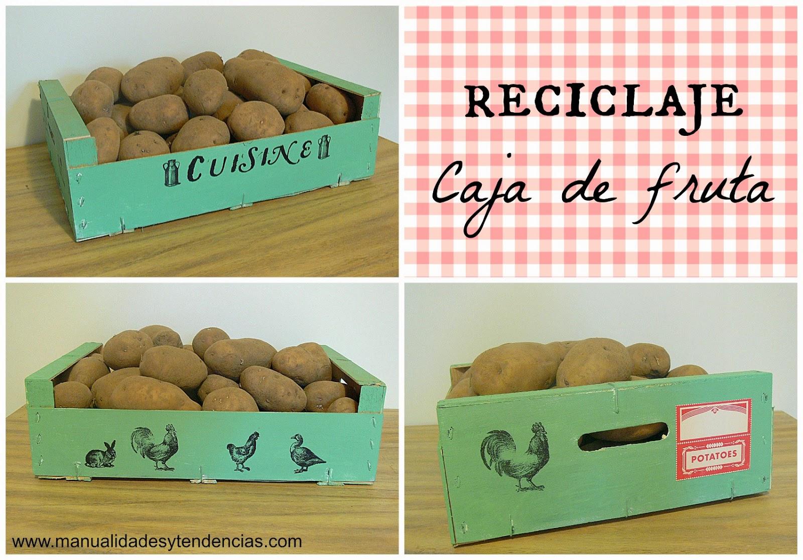 Manualidades y tendencias caja de fruta reciclada - Caja fruta decoracion ...