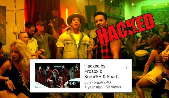 إختراق موقع اليوتويب و تغيير عنوان أغنية دسباسيتو  من قبل sh_kuroi