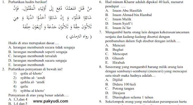 Download Soal UKK Kelas 11 fiqih + Jawaban Kurikulum 2013