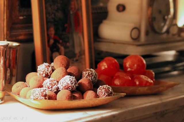 truffes Noël orange cacao gingembre cannelle noix pécan millet dattes figues