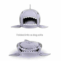 Washable Shark Pet House Cave.