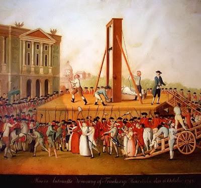 Marie Antoinette's execution in 1793 at the Place de la Révolution