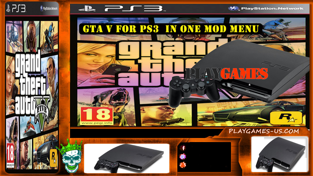 Free game: GTA V for PS3 in one mod - play games