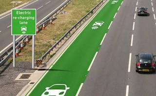 Electric recharging lane