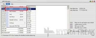 Cara mengekspor file dengan IMG Manager V1.5