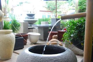 air mancur taman & pot: etnik minimalis