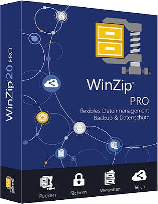 WinZip Pro 21.5 Build 12480 poster box cover