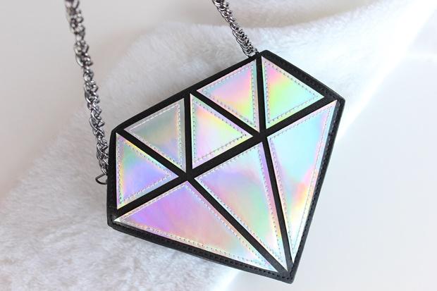 Bolsa em formato de diamante - Amiclubwear