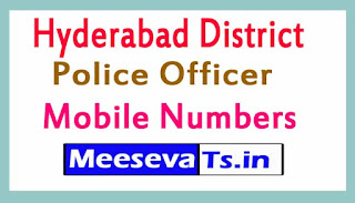 Hyderabad District Police Office Mobile Numbers List in Telangana State
