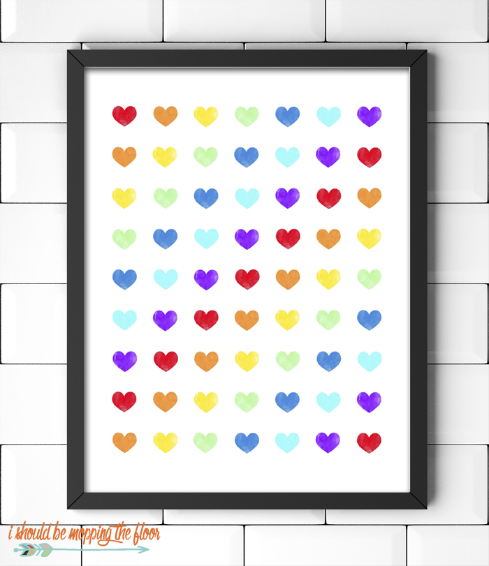 Rainbows and Hearts Printable