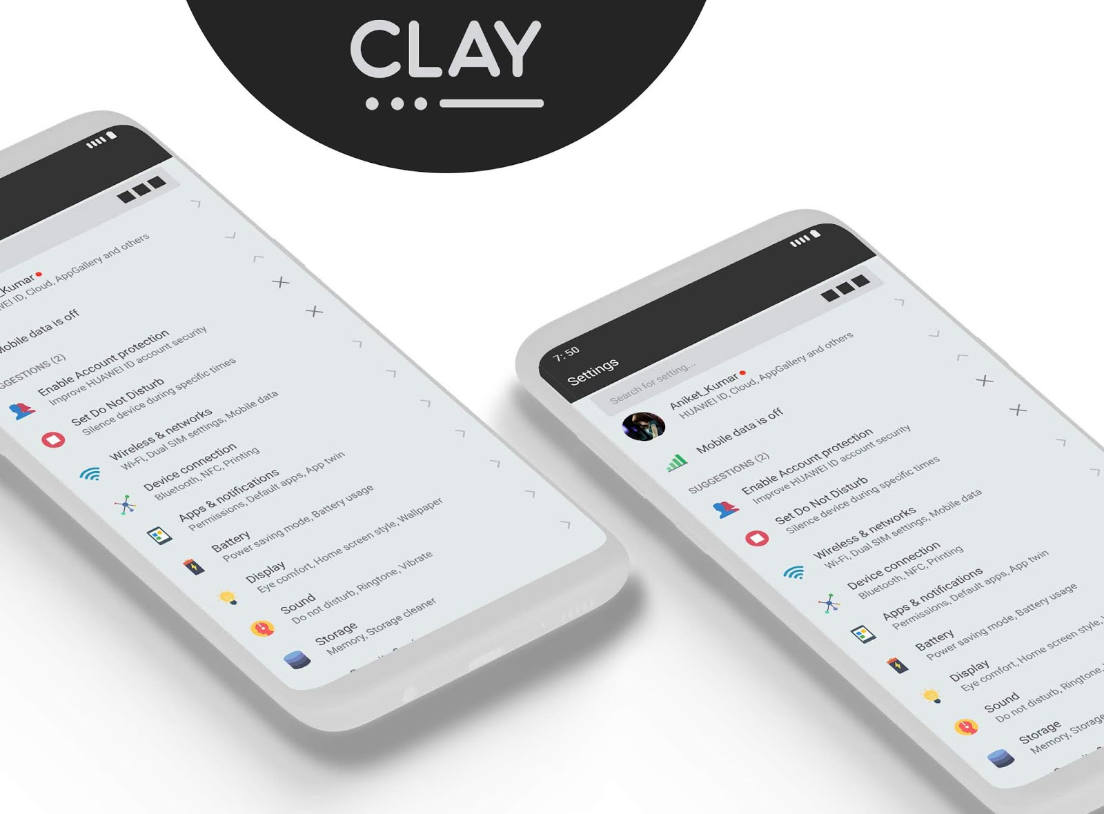 Clay Theme for EMUI 8 - EMUI 5