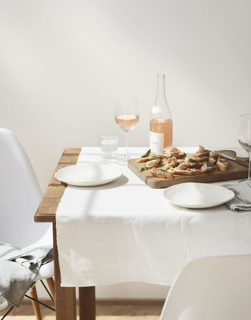 Minimal neutral serene organic tablescape table by Kira Corbin slow living