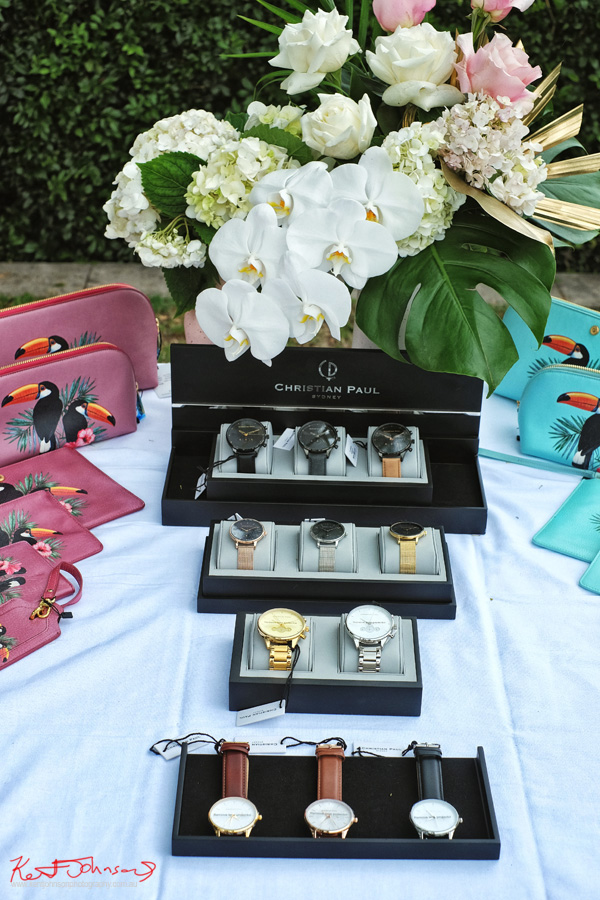 Watches and accessorises of the Havana Days pool party Launch Event - Photographed by Kent Johnson for Street Fashion Sydney