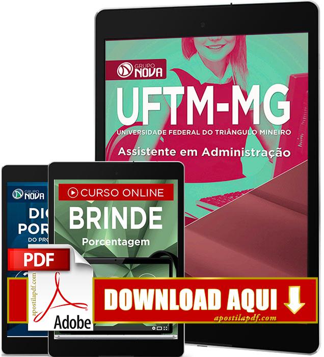 Apostila UFTM MG 2016 PDF Download Assistente em Administração
