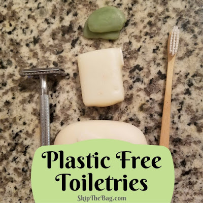 Ultimate list of zero waste travel tips: plastic free toiletries