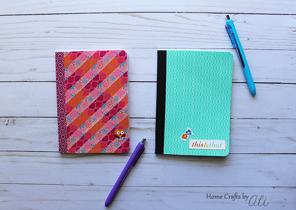 step by step tutorial washi tape notebook