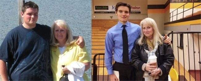#8. The bond between mother and son is a powerful one. - 23 Inspirational Before/After Photos Of People Who Can Say 'I Did It.'