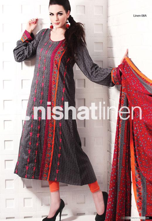 Linen Designs Of Dress Pakistani