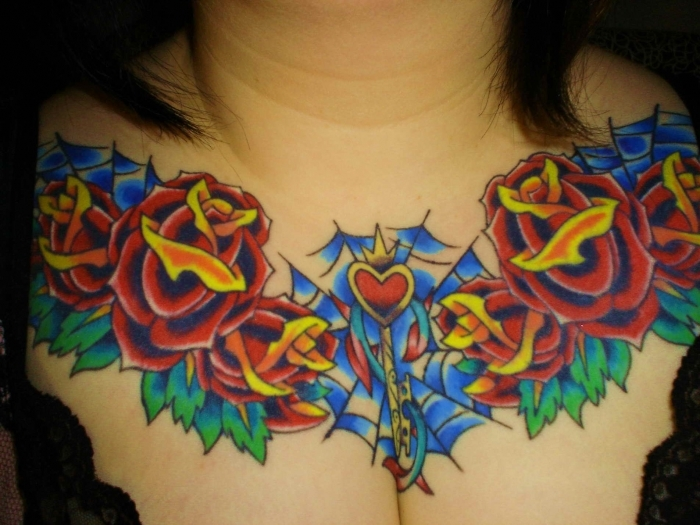 Tattoo Ideas For Women Chest: Chest Tattoos Design For Women