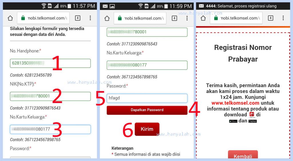 Inilah Cara Registrasi Ulang Kartu Prabayar  Hanyalah Berbagi Informasi