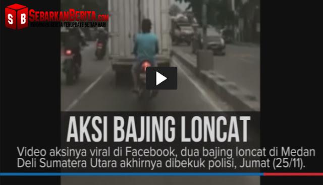 Video Aksi Dua Bajing Loncat Di Medan yang Viral di Facebook, Akhirnya Diringkus Polisi