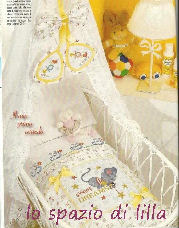 Preferenza lo spazio di lilla: Copertine per neonato con topolini a punto  FM59