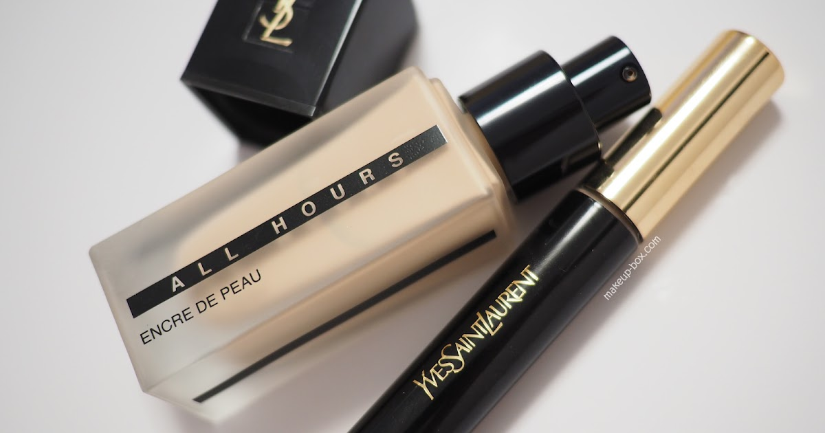 the makeup box ysl all hours encre de peau foundation and all hours concealer review. Black Bedroom Furniture Sets. Home Design Ideas
