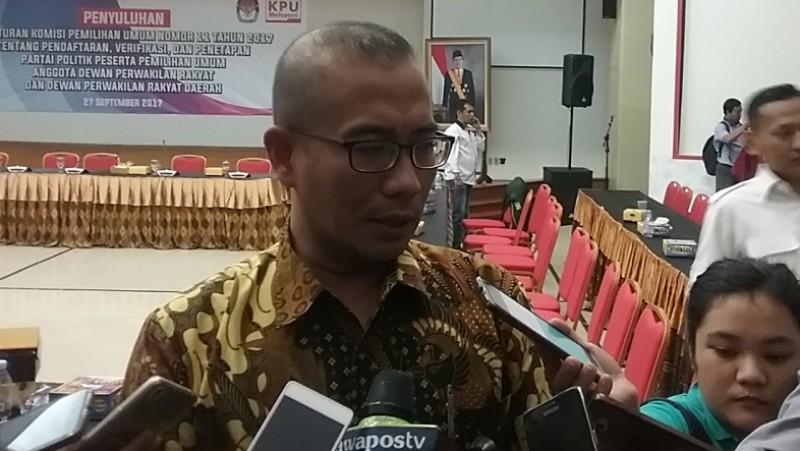 Komisioner KPU RI Hasyim Asy'ari di Kantor KPU