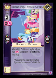 My Little Pony Friendship Festival Setup Seaquestria and Beyond CCG Card