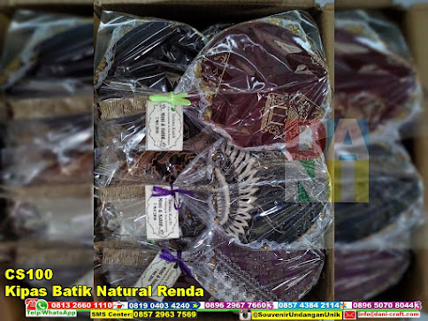 jual Kipas Batik Natural Renda