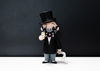 WonderCon 2017 Exclusive Monopoly's Mr. Penny Bags Vinyl Figure by BAIT x Hasbro