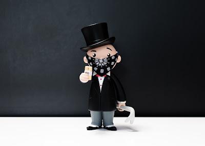 WonderCon 2017 Exclusive Monopoly's Mr. Penny Bags Vinyl Figure by BAIT x Hasbro