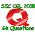 Top 50 gk questions in English for SSC exams 2018.