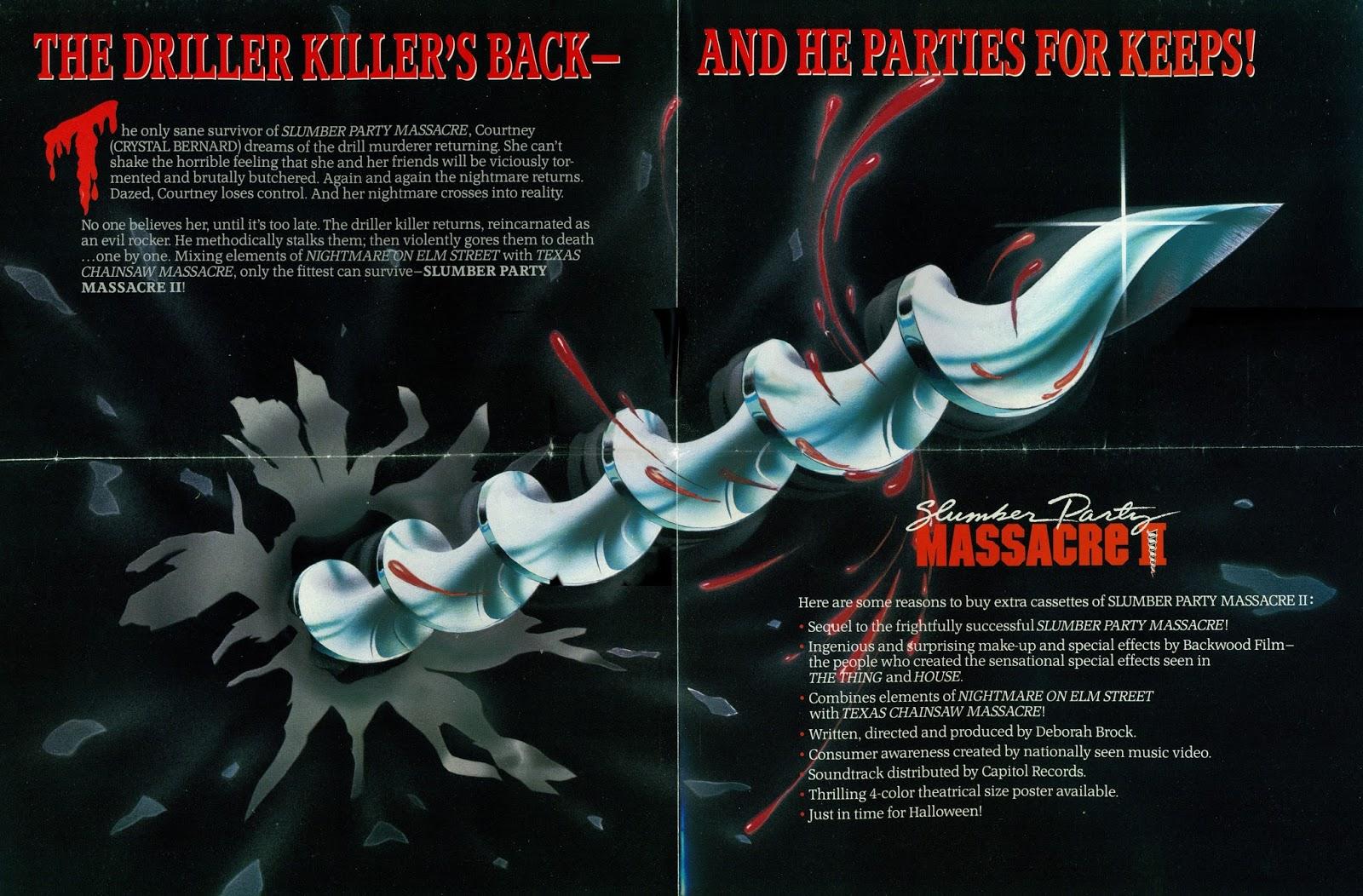 Slumber Party Massacre 80s Cult Classic Horror Movie T shirt
