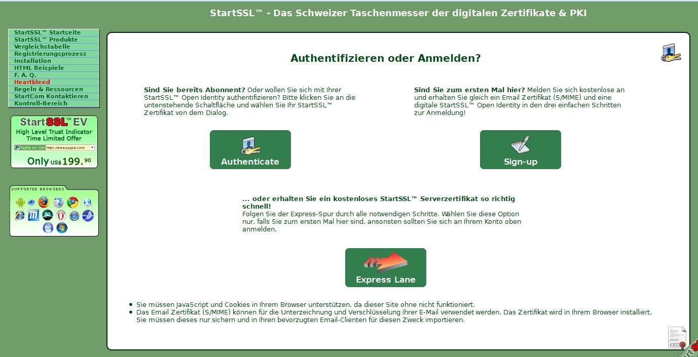 Einrichtung Mailverschlüsselung S/MIME am Beispiel mit STARTSSL und ...