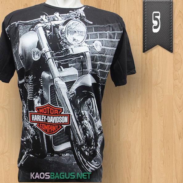 Kaos Harley Davidson Hitam