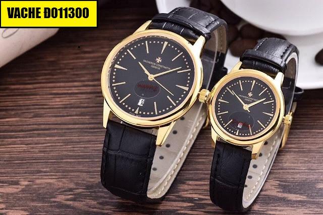 Đồng hồ cặp đôi dây da Vacheron Đ011300