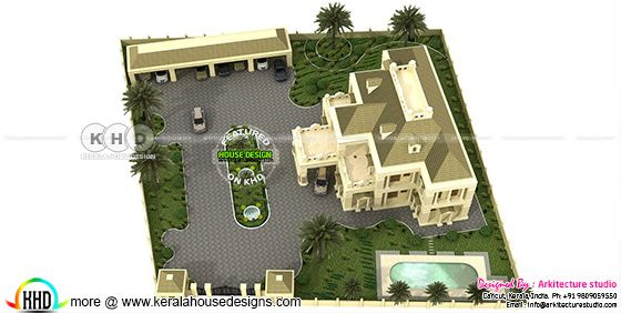 Colonial house rendering view 2