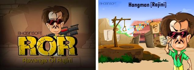 Play Revenge Of Raniji (ROR) and Hangman [Rajini] Games
